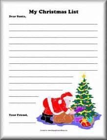 8 best images of printable christmas list for santa santa claus christmas list template my
