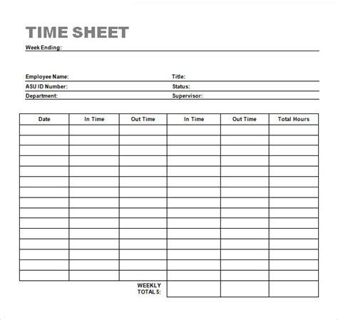 sle time sheet 23 exle format