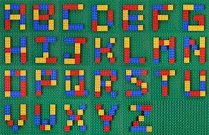 Typography task lego letters flickr photo sharing for Alphabet photo letters