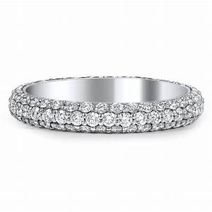 Custom Three Sided Pave Diamond Wedding Band Brilliant Earth