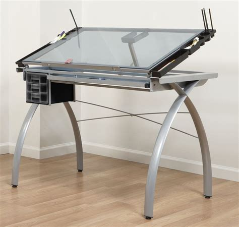 drawing desk with lightbox adjustable drafting table tattoo stencil glass drawing