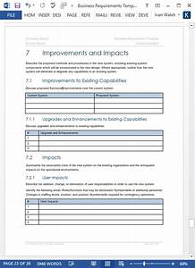 Order Template Excel Business Requirements Specification Template Ms Word