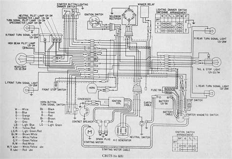 honda cb175 k6 electrical wiring diagram circuit wiring diagrams