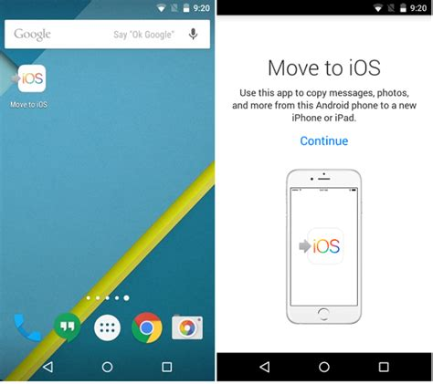 move to android all you need to about apple s new quot move to ios
