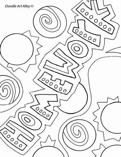 Covers Binder Coloring English Doodle Homework Writing