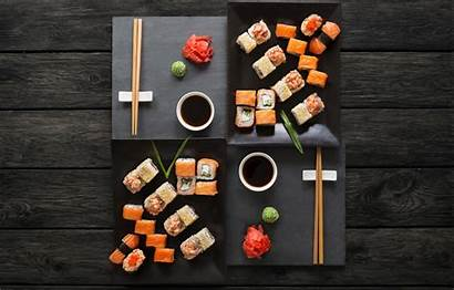 Japanese Sushi Sticks Wasabi Ginger Rolls Sauce