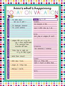 Free Printable Vacation Planner Template