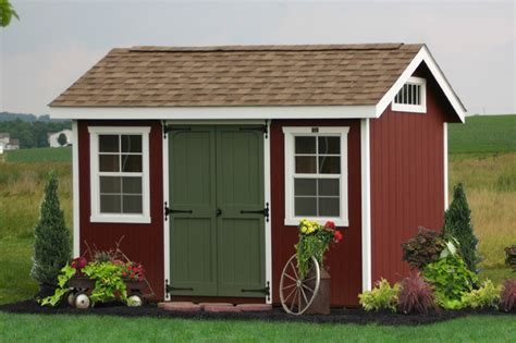 classic wooden workshop shed  ny traditional