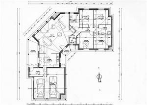 plan plain pied 147m2 en v qu39en pensez vous 55 With plan maison en v plain pied gratuit