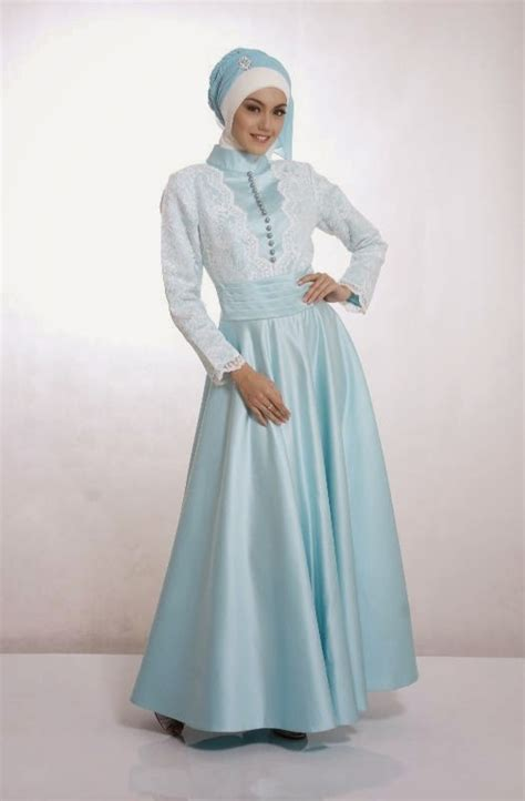 contoh kebaya pengantin muslimah simple modern terbaru