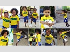 Too Cute! Mini dopplegangers of Brazil's David Luiz