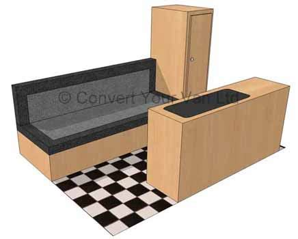 Flat Pack Settee by Small Vans Convert Your
