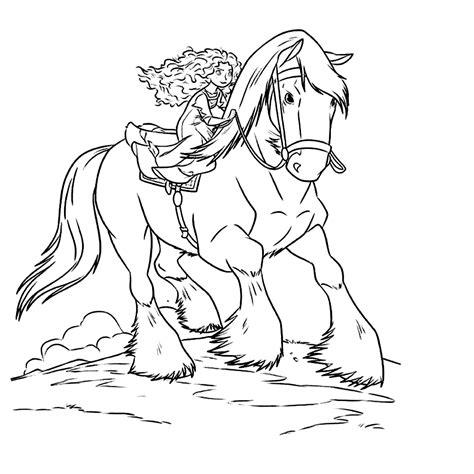 Kleurplaat Rapunzel Paard by Brave Kleurplaten Kleurplatenpagina Nl Boordevol