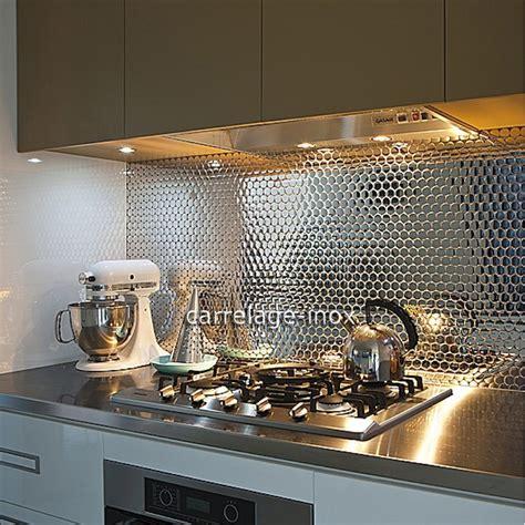cr ence miroir pour cuisine crédence cuisine inox miroir mosaique salle de bain