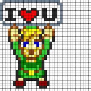 I Love Link Perler Bead Pattern | Bead Sprites ...
