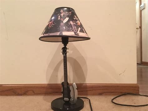 Kiss Bass Guitar Table Lamp Used Very Hard Item To Find No