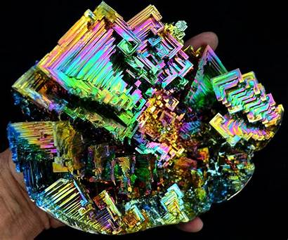 Bismuth Crystals Making Crystal Minerals Giant Looks