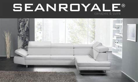 canape blanc cuir design canape cuir blanc design seanroyale bandibandi de