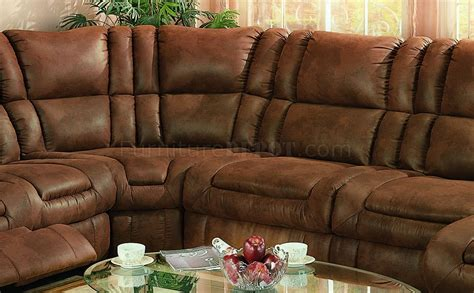 brown specially treated microfiber sectional sofa wrecliner