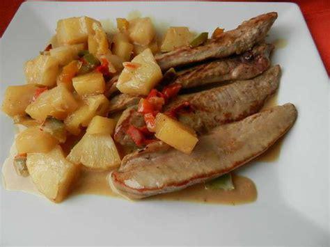 cuisiner les aiguillettes de canard recettes d 39 aiguillettes de canard et ananas