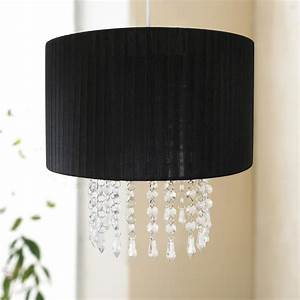 chic black easy fit chandelier acrylic droplet light lamp With lamp shades and light fittings