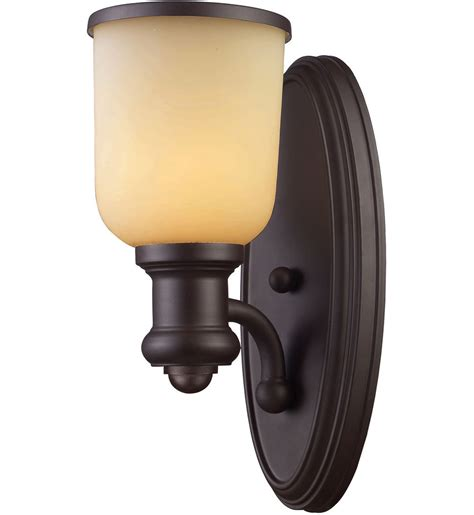 elk lighting 66170 1 led brooksdale rubbed bronze