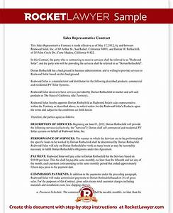 Sales representative contract template agreement with sample for Sales rep contract template