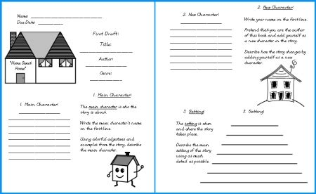 house book report project templates worksheets grading