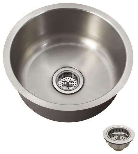 round stainless steel sink schon scsbr18 premium 18 gauge round undermount bar sink