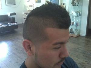 fade, faux hawk, line up.. 3 cuts in one with a taper on ...