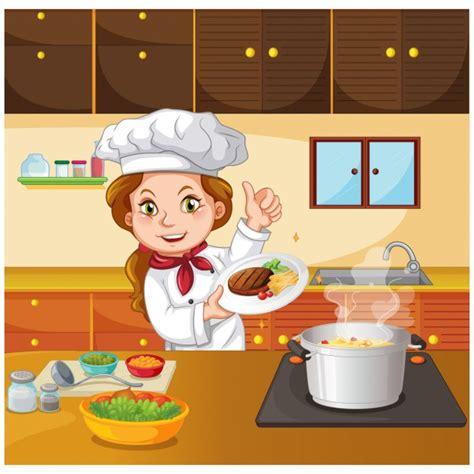 chef en cuisine chef de cuisine dans la cuisine télécharger des vecteurs