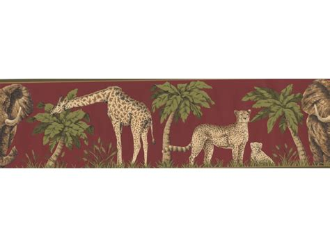 Jungle Animals Wallpaper Border - moss jungle animals wallpaper border