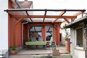 Terrassenuberdachung mit stegplatten bauhandwerk for Stegplatten terrassenüberdachung