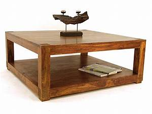 Table Basse Carre 100 Palissandre