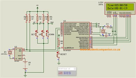 digital clock with microcontroller ds1307 rtc studentcompanion