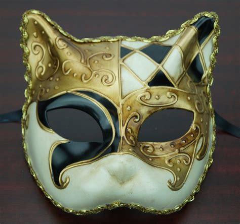 venetian cat mask traditional venetian cat mask black
