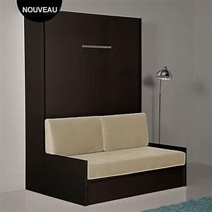 Meuble Lit Escamotable : lit escamotable avec banquette gemini meuble pinterest lit escamotable lit et mobilier de ~ Farleysfitness.com Idées de Décoration