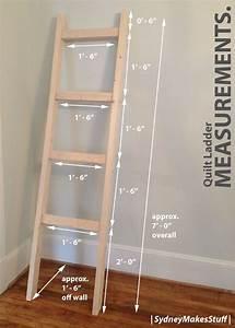 DIY Quilt Ladder Quilt ladder, Woodworking and Craft