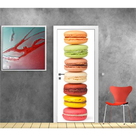 poster cuisine moderne affiche poster pour porte cuisine macaron rf stickers with