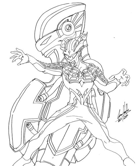 Coloring Ultraman Pictures by Ultraman Zero Coloring Pages Sketch Coloring Page