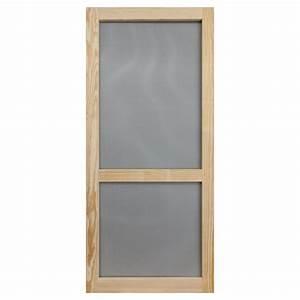 Shop Screen Tight Stain-grade Pine Wood Hinged Single Bar