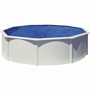 Piscine Hors Sol Acier Imitation Bois : piscine hors sol acier san clara diam 4 6 x h 1 2 m ~ Dailycaller-alerts.com Idées de Décoration