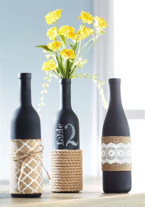 23 creative ways to repurpose your empty wine bottles table numbers wine and wine bottles