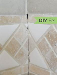 Houzz quick fix repair cracked bathroom grout revamp for Cracked bathroom tile repair
