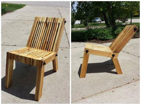 chaise en palette 3 chaises en palette à fabriquer