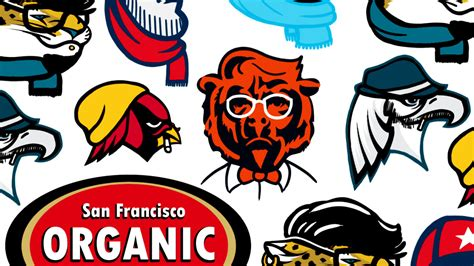 Your Favorite NFL Logos, As Hipsters