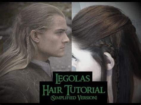 legolas hair tutorial simple version youtube