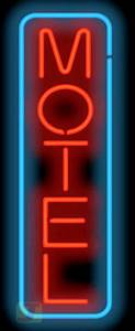 Vertical Motel Neon Sign | MH-30-61 | Jantec Neon