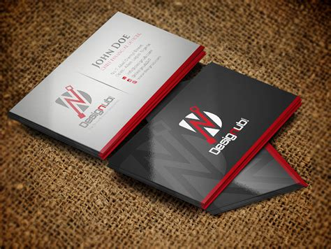 classic business card design template designub