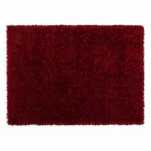 tapis salon feeling trend rouge achat vente tapis With tapis rouge salon